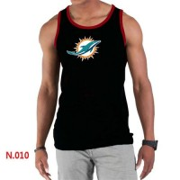 Men's Nike NFL Miami Dolphins Sideline Legend Authentic Logo Tank Top Black