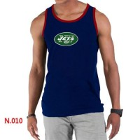 Men's Nike NFL New York Jets Sideline Legend Authentic Logo Tank Top Dark Blue