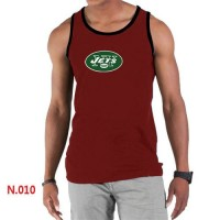 Men's Nike NFL New York Jets Sideline Legend Authentic Logo Tank Top Red
