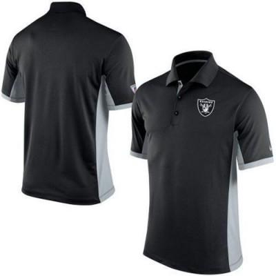 Men's Nike NFL Oakland Raiders Black Team Issue Performance Polo