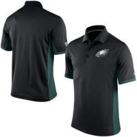 Men's Nike NFL Philadelphia Eagles Black Team Issue Performance Polo