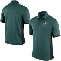 Men's Nike NFL Philadelphia Eagles Green Team Issue Performance Polo