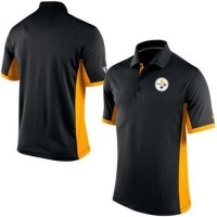 Men's Nike NFL Pittsburgh Steelers Black Team Issue Performance Polo