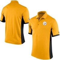 Men's Nike NFL Pittsburgh Steelers Gold Team Issue Performance Polo