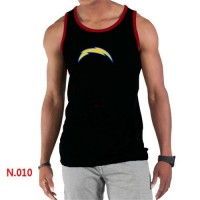 Men's Nike NFL San Diego Chargers Sideline Legend Authentic Logo Tank Top Black