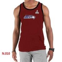 Men's Nike NFL Seattle Seahawks 2015 Super Bowl XLIX Sideline Legend Authentic Logo Tank Top Red