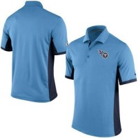 Men's Nike NFL Tennessee Titans Light Blue Team Issue Performance Polo