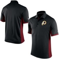 Men's Nike NFL Washington Redskins Black Team Issue Performance Polo