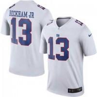 Men's Nike New York Giants #13 Odell Beckham Jr White Color Rush Limited Jerseys