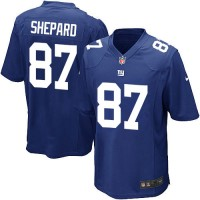 Men's Nike New York Giants #87 Sterling Shepard Game Royal Blue Team Color NFL Jersey
