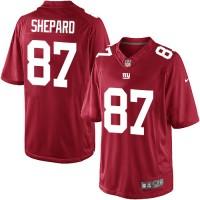 Men's Nike New York Giants #87 Sterling Shepard Limited Red Alternate NFL Jersey
