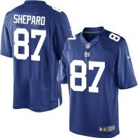 Men's Nike New York Giants #87 Sterling Shepard Limited Royal Blue Team Color NFL Jersey