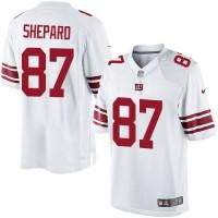 Men's Nike New York Giants #87 Sterling Shepard Limited White NFL Jersey