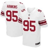 Men's Nike New York Giants #95 Johnathan Hankins Elite White Jersey