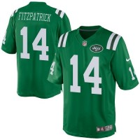 Men's Nike New York Jets #14 Ryan Fitzpatrick Elite Green Rush NFL Jersey