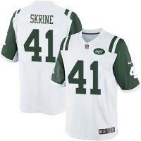 Men's Nike New York Jets #41 Buster Skrine White Limited Jersey