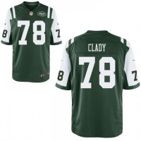 Men's Nike New York Jets #78 Ryan Clady Green Team Color Stitched NFL Game Jersey