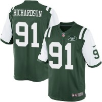 Men's Nike New York Jets #91 Sheldon Richardson Green Team Color NFL Limited Jersey