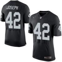 Men's Nike Oakland Raiders #42 Karl Joseph Elite Black Team Color NFL Jersey