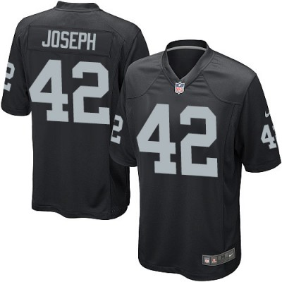 Men's Nike Oakland Raiders #42 Karl Joseph Game Black Team Color NFL Jersey