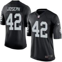 Men's Nike Oakland Raiders #42 Karl Joseph Limited Black Team Color NFL Jersey