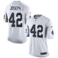 Men's Nike Oakland Raiders #42 Karl Joseph Limited White NFL Jersey