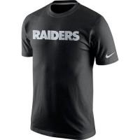 Men's Nike Oakland Raiders Fast Wordmark T-Shirt Black