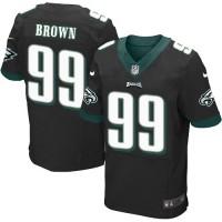 Men's Nike Philadelphia Eagles #99 Jerome Brown Elite Black Alternate NFL Jersey
