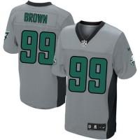 Men's Nike Philadelphia Eagles #99 Jerome Brown Elite Grey Shadow NFL Jersey