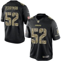 Men's Nike San Diego Chargers #52 Denzel Perryman Black Camo Limited Salute to Service Jersey