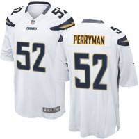 Men's Nike San Diego Chargers #52 Denzel Perryman White Game Jersey