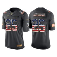 Men's Nike Seattle Seahawks #25 Richard Sherman Anthracite Stitched NFL Limited Salute to Service USA Flag Fashion Jersey