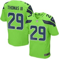 Men's Nike Seattle Seahawks #29 Earl Thomas III Green Stitched NFL Limited Rush Jersey