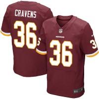 Men's Nike Washington Redskins #36 Su'a Cravens Elite Burgundy Red Team Color NFL Jersey