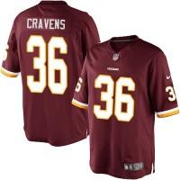 Men's Nike Washington Redskins #36 Su'a Cravens Limited Burgundy Red Team Color NFL Jersey