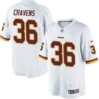 Men's Nike Washington Redskins #36 Su'a Cravens Limited White NFL Jersey