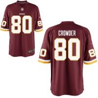Men's Nike Washington Redskins #80 Jamison Crowder Game Burgundy Red Team Color NFL Jersey