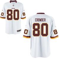 Men's Nike Washington Redskins #80 Jamison Crowder White NFL Game Jersey