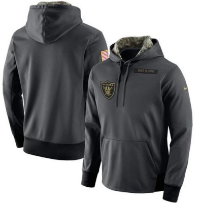 Men's Oakland Raiders Nike Anthracite Salute to Service Player Performance Hoodie