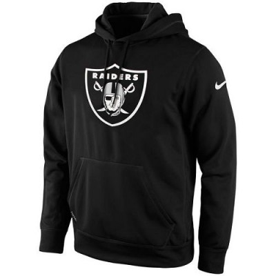 Men's Oakland Raiders Nike Black KO Logo Essential Hoodie