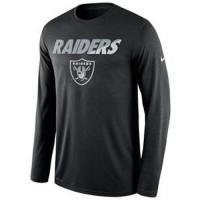 Men's Oakland Raiders Nike Black Legend Staff Practice Long Sleeves Performance T-Shirt