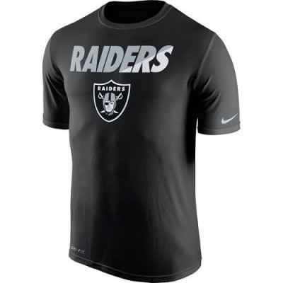 Men's Oakland Raiders Nike Black Legend Staff Practice Performance T-Shirt