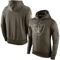 Men's Oakland Raiders Nike Olive Salute To Service KO Performance Hoodie