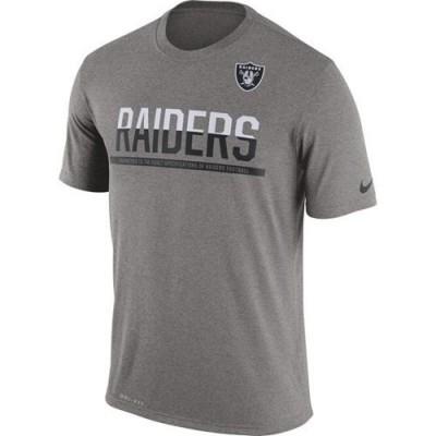 Men's Oakland Raiders Nike Practice Legend Performance T-Shirt Grey