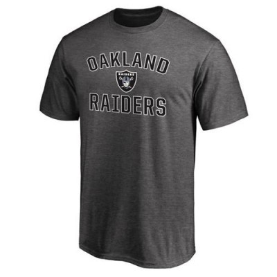 Men's Oakland Raiders Pro Line Gray Victory Arch T-Shirt
