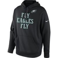 Men's Philadelphia Eagles Nike Black Fly Eagles Fly Pullover Hoodie