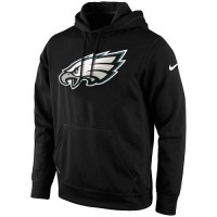 Men's Philadelphia Eagles Nike Black KO Logo Essential Hoodie