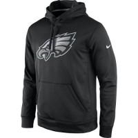 Men's Philadelphia Eagles Nike Black Practice Performance Pullover Hoodie