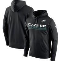 Men's Philadelphia Eagles Nike Black Sideline Circuit Pullover Performance Hoodie