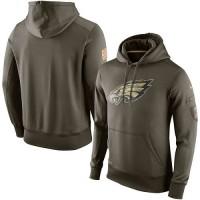 Men's Philadelphia Eagles Nike Olive Salute To Service KO Performance Hoodie